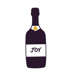 joy alcoholic beverage bottle vector image