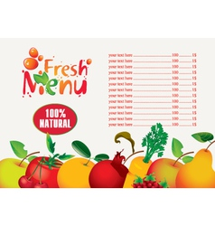 juices fresh vector image vector image