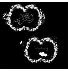 template for wedding vector image vector image