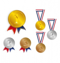 award medals ribbons vector image