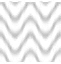 black seamless wavy line pattern vector image vector image