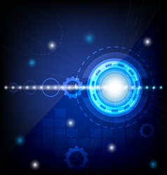 blue circle technology abstract background vector image