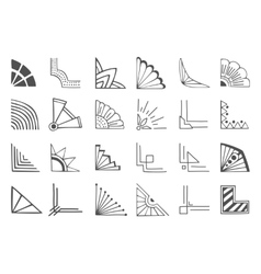 Corners elements vector image