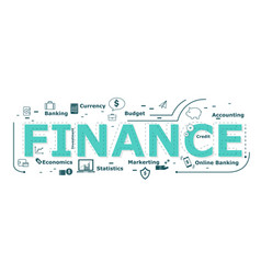 finance word desigh vector image