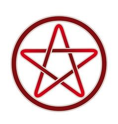 Five point pentagram icon vector image