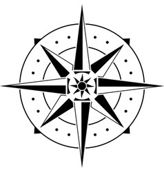 Stencil of compass vector