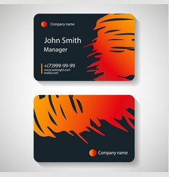 stylish dark business card template vector image