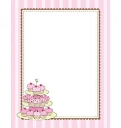 Cupcake border vector