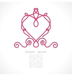 decorative elegant frame vector image vector image