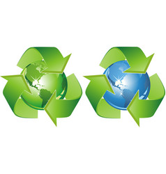 ecological symbol - earth surrounded with green vector image