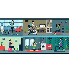 exercise vector image vector image
