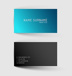 Modern blue minimalistic business card template vector image
