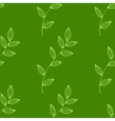 seamless green leaves background vector image vector image