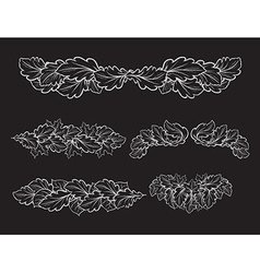 Set of hand drawn decorative elements for design vector image