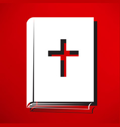 bible book icon vector image