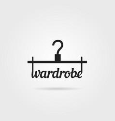 black wardrobe icon with shadow vector image