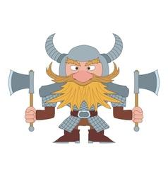 Dwarf warrior vector image vector image