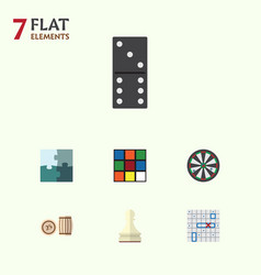 flat icon play set of bones game arrow lottery vector image