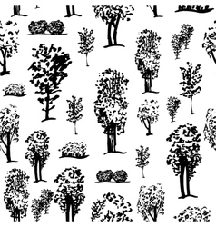 graphic tree pattern vector image vector image