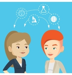 Students sharing with the ideas vector image vector image