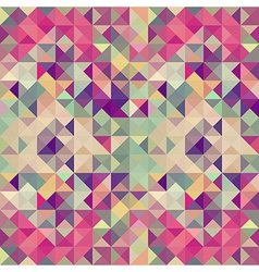Vintage hipsters geometric pattern vector image