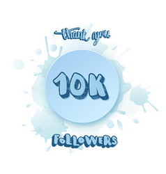 10k followers thank you social media template vector
