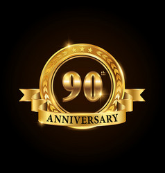 90 years anniversary celebration logotype vector image