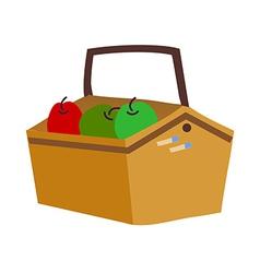 A basket of fruit vector