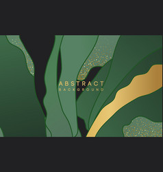 abstract background with green shape and gold vector image