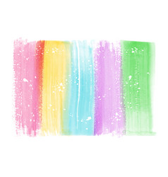 Abstract hand painted colorful watercolor brush vector
