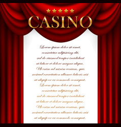 Advertising casino design vector