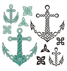 Anchor celtic vector