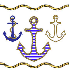 anchor rope vector image