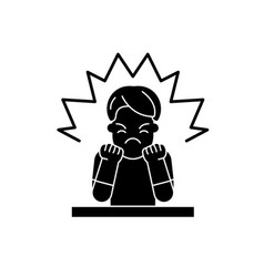 anger black icon sign on isolated vector image
