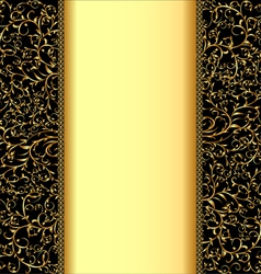 Background with gold ornaments and strip for vector