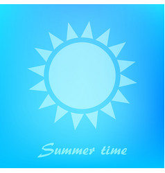 beautiful blue background with sun icon vector image