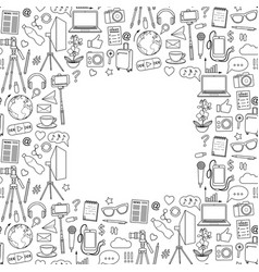 blog object seamless frame vector image