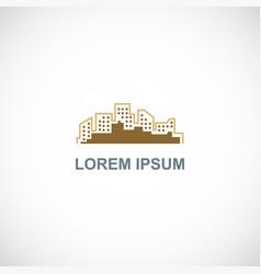 building line company logo vector image