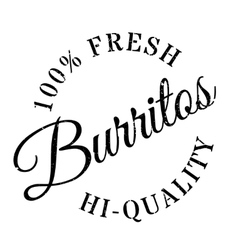 Burritos stamp rubber grunge vector
