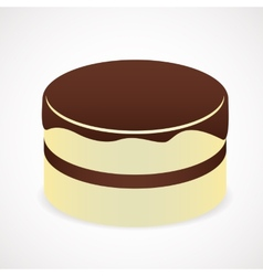 Cake with chocolate icing vector image