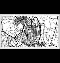 Cartagena spain city map in retro style outline vector