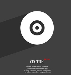 CD or DVD icon symbol Flat modern web design with vector image