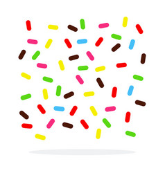 colored powder for desserts flat isolated vector image
