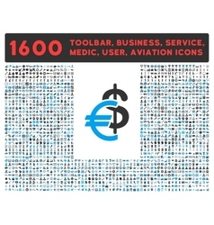 Currency Icon with Large Pictogram Collection vector