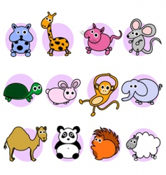 cute animal characters vector image