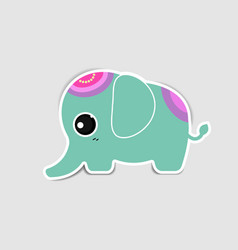 cute elephant with shadow vector image