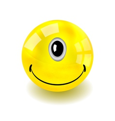 Cyclop Smilie Face vector