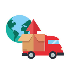 Fast delivery related icon vector
