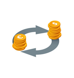 financial transactions currency exchange money vector image