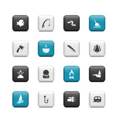 Fishing Buttons vector image